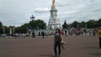 With the Victoria Memorial