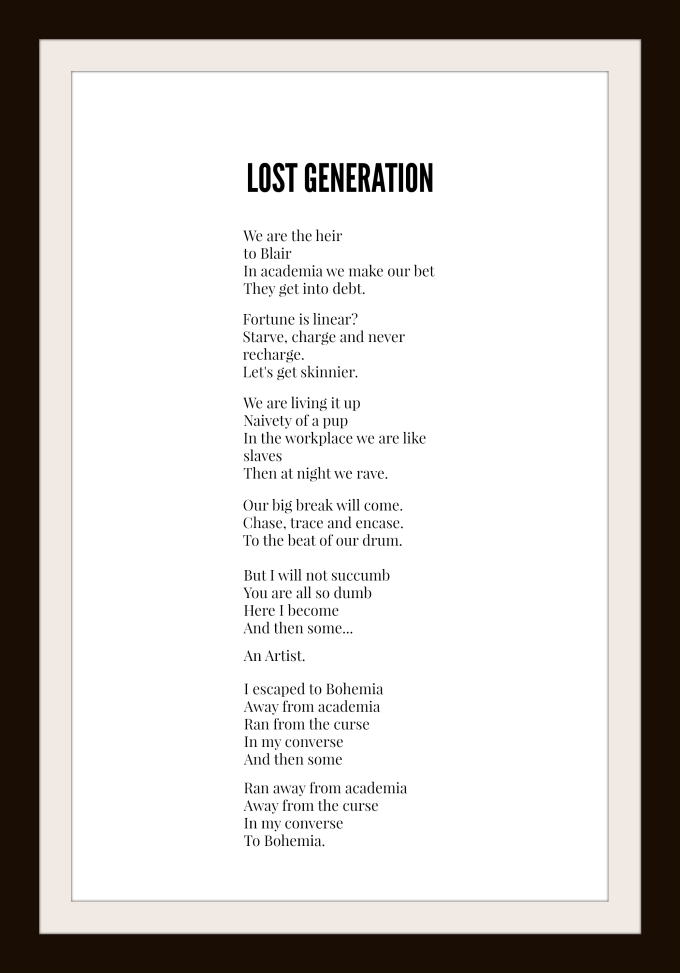 Lost generation framed