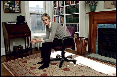 © by Michael Brennan. Fairfax use only. All other publications must contact Michael regarding permission/republication fees. Contact Pictorial Library for details. SMH Spectrum..Brooklyn NY.03-05.2006. Writer SIRI HUSTVEDT ar her Brooklyn,NY home. Pic by Michael Brennan