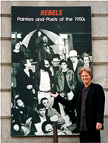 """Photographer Larry Keenan in Washington, DC for the The Smithsonian's National Portrait Gallery exhibit, """"REBELS: Beat Artists and Poets of the 1950s."""" - Photo by Lisa Keenan"""