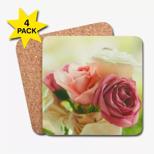 pink roses coasters