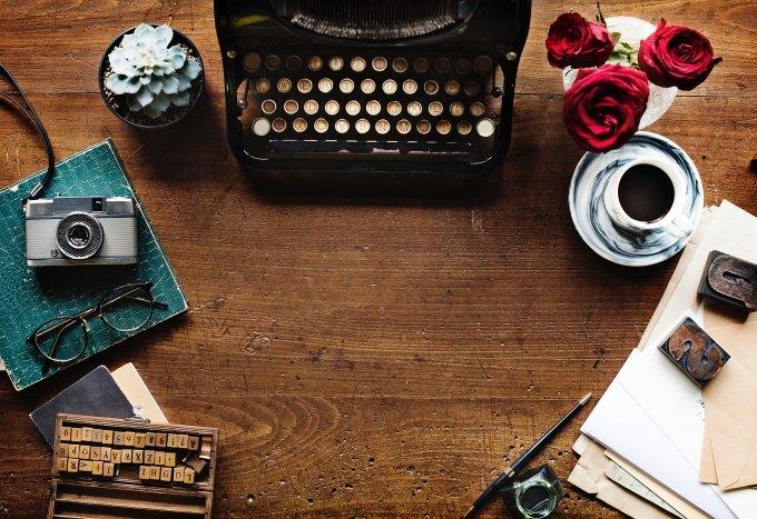 typewriter roses